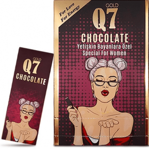 Q7 Aphrodisiac Chocolate For Women, 12 pieces x 25 gram